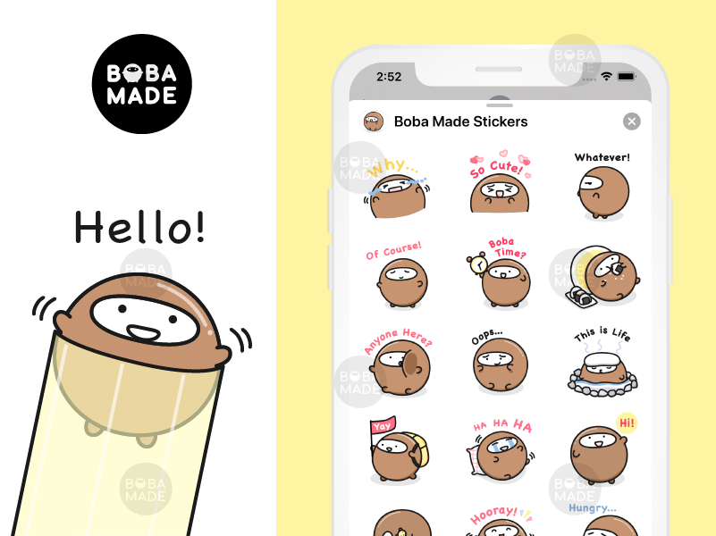 Boba Tea Emoji Stickers